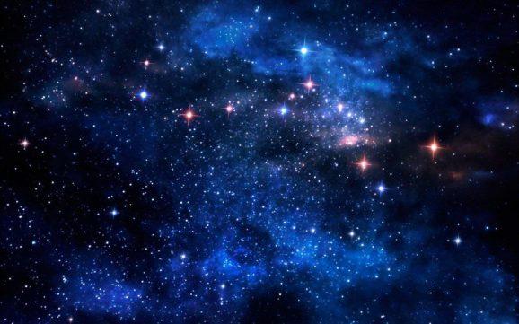 a storm of stars